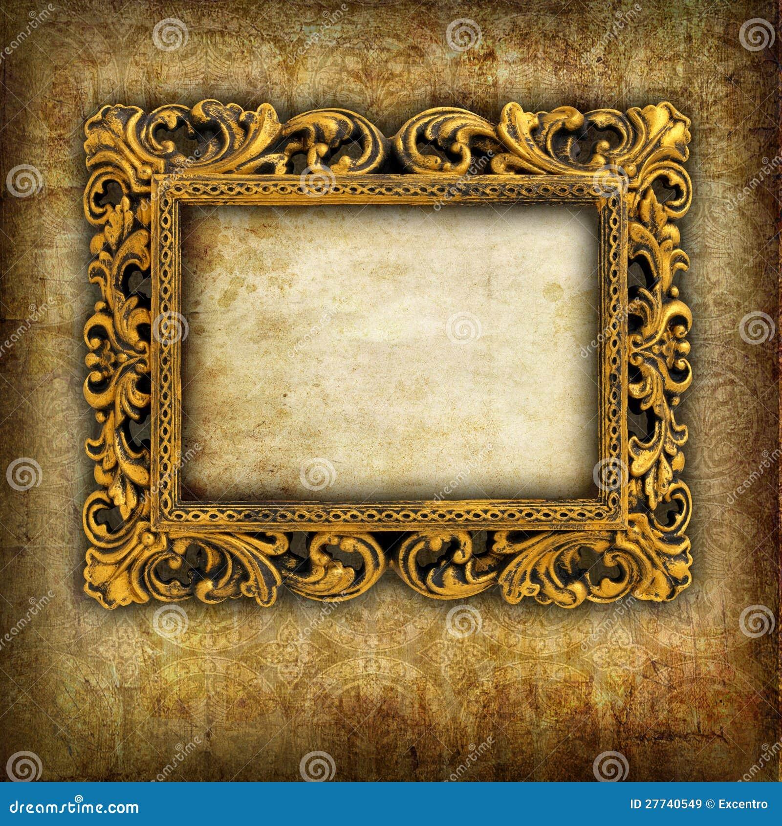 Marco retro stock de ilustración. Ilustración de ornamento - 27740549