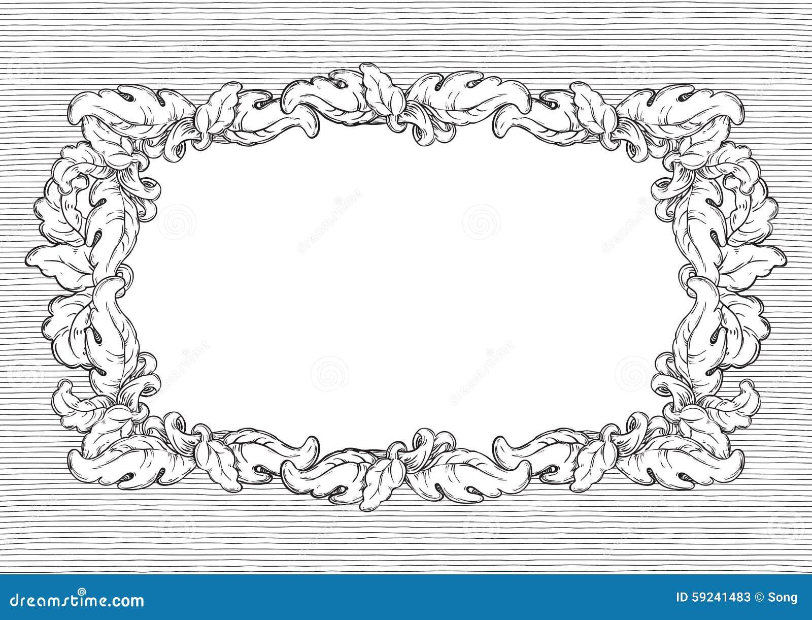 Download Marco retro ilustración del vector. Ilustración de ilustración - 59241483