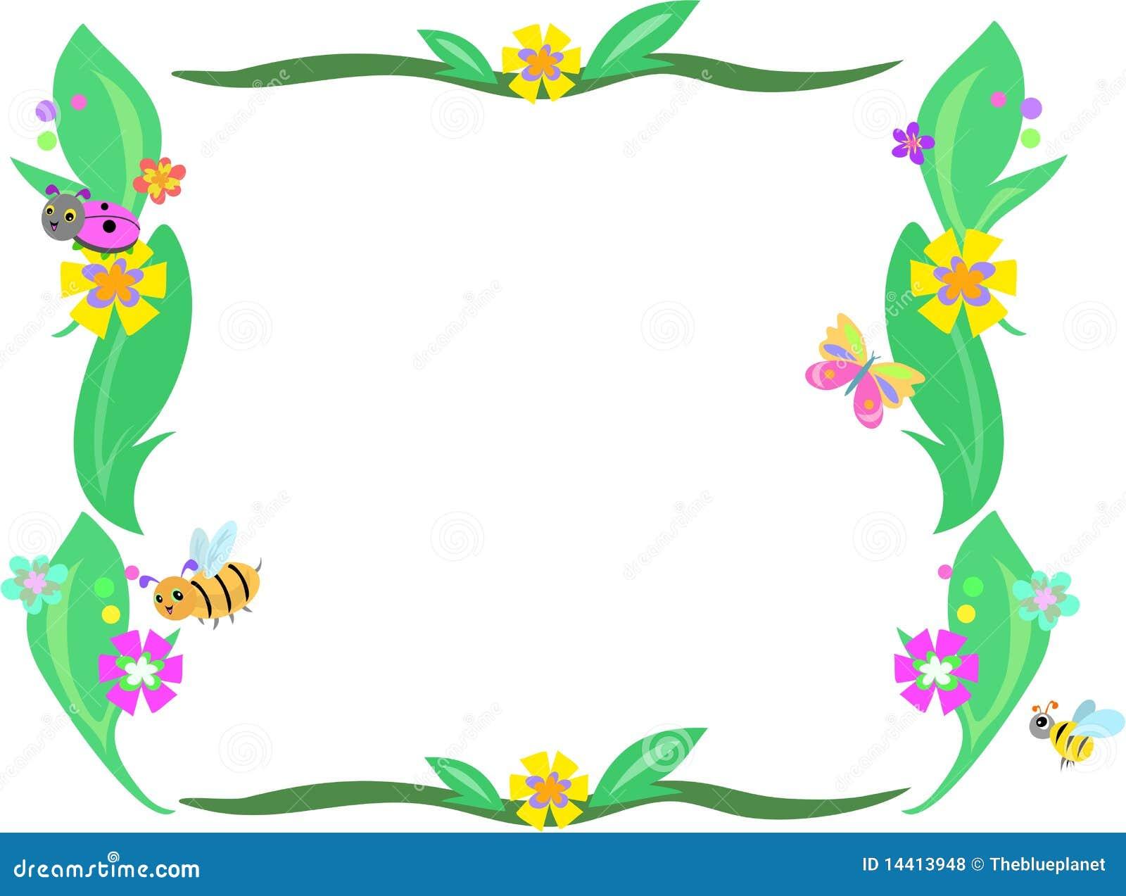 Marco Para Hoja De Flores