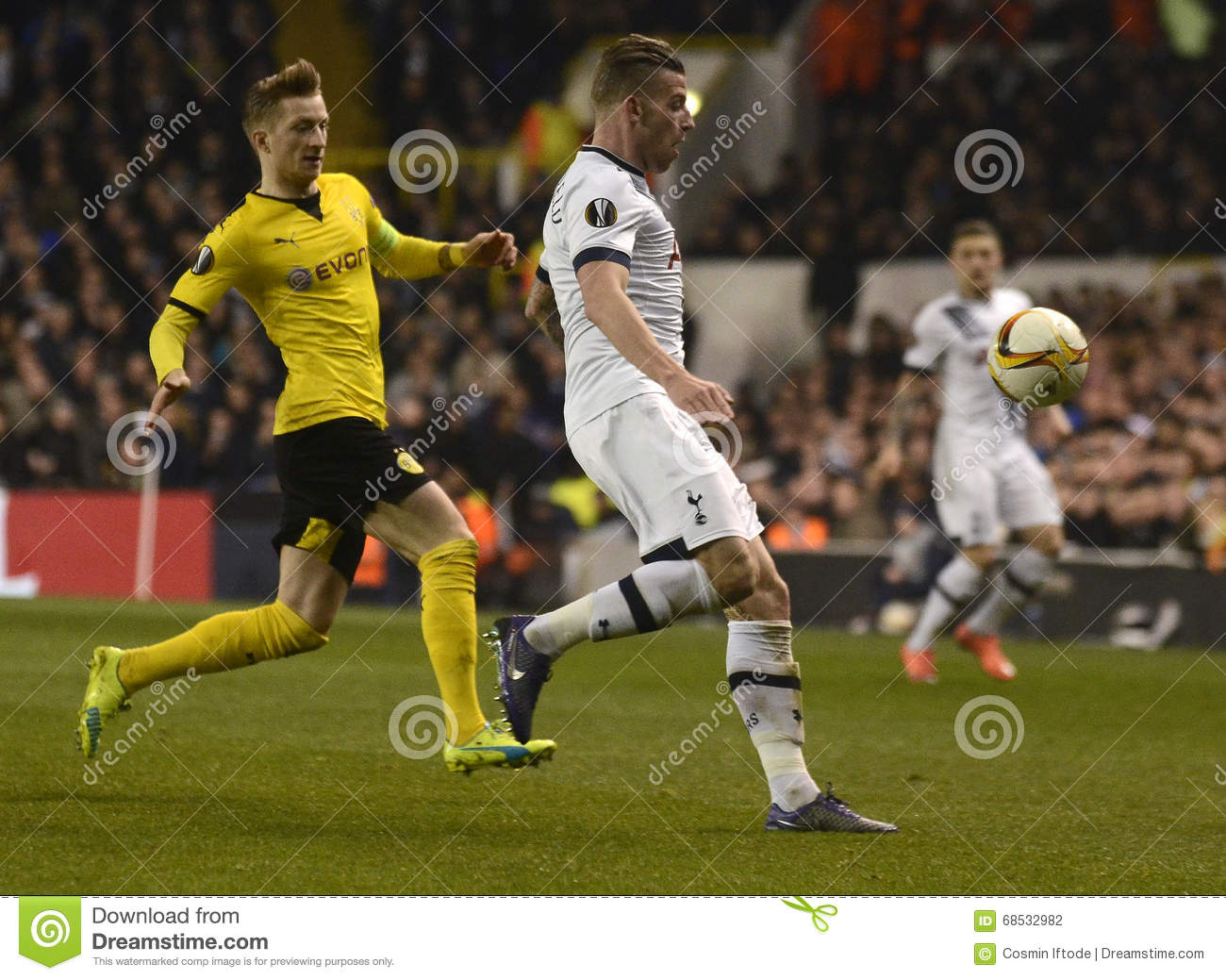 Marco Reus And Toby Alderweireld Editorial Photography - Image of ...