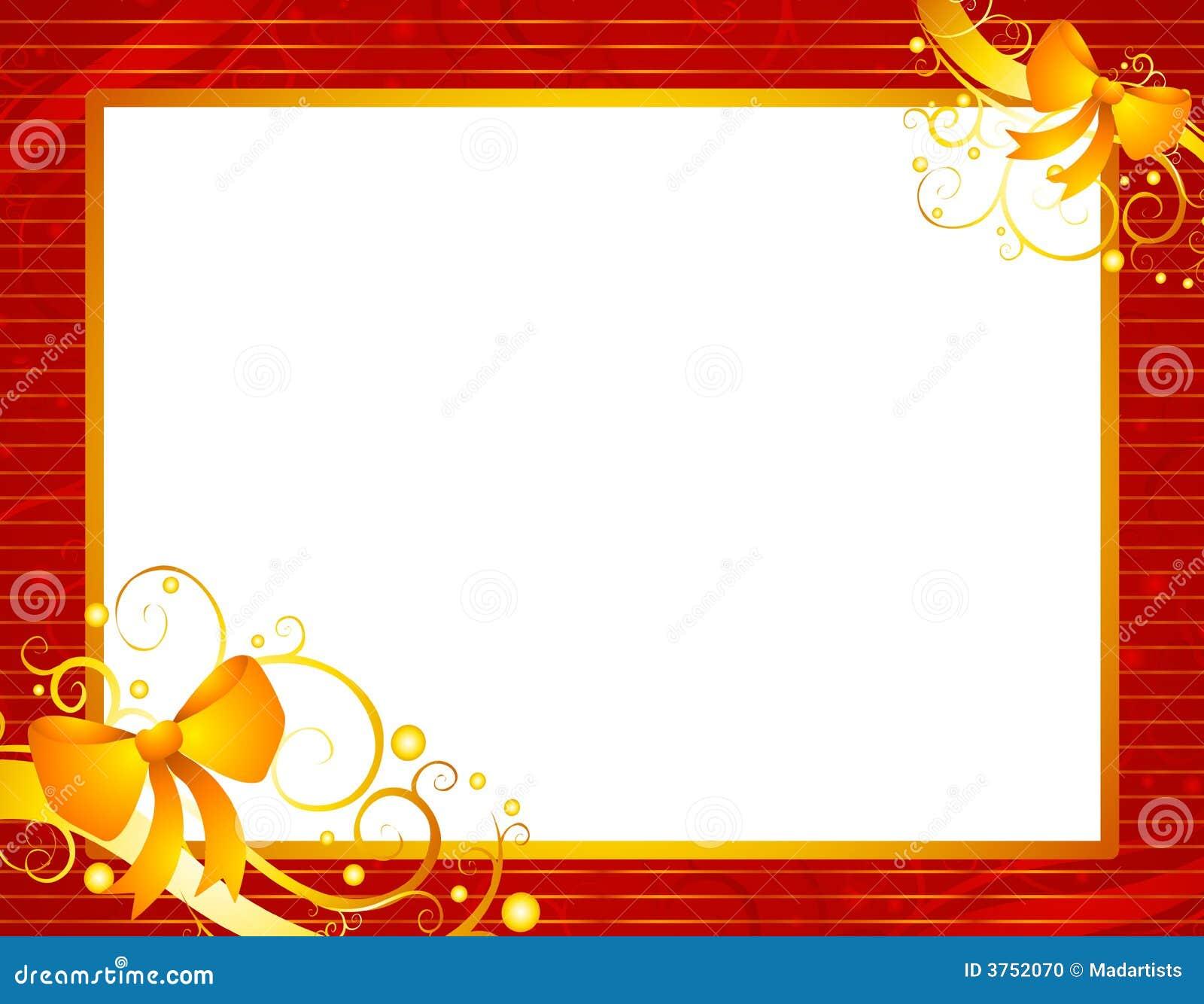 marco rojo de la navidad con oro stock de ilustraci243n
