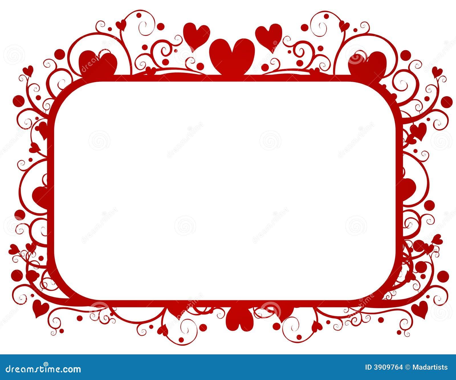 Marco Rojo Del Día De Tarjeta Del Día De San Valentín De Los ...