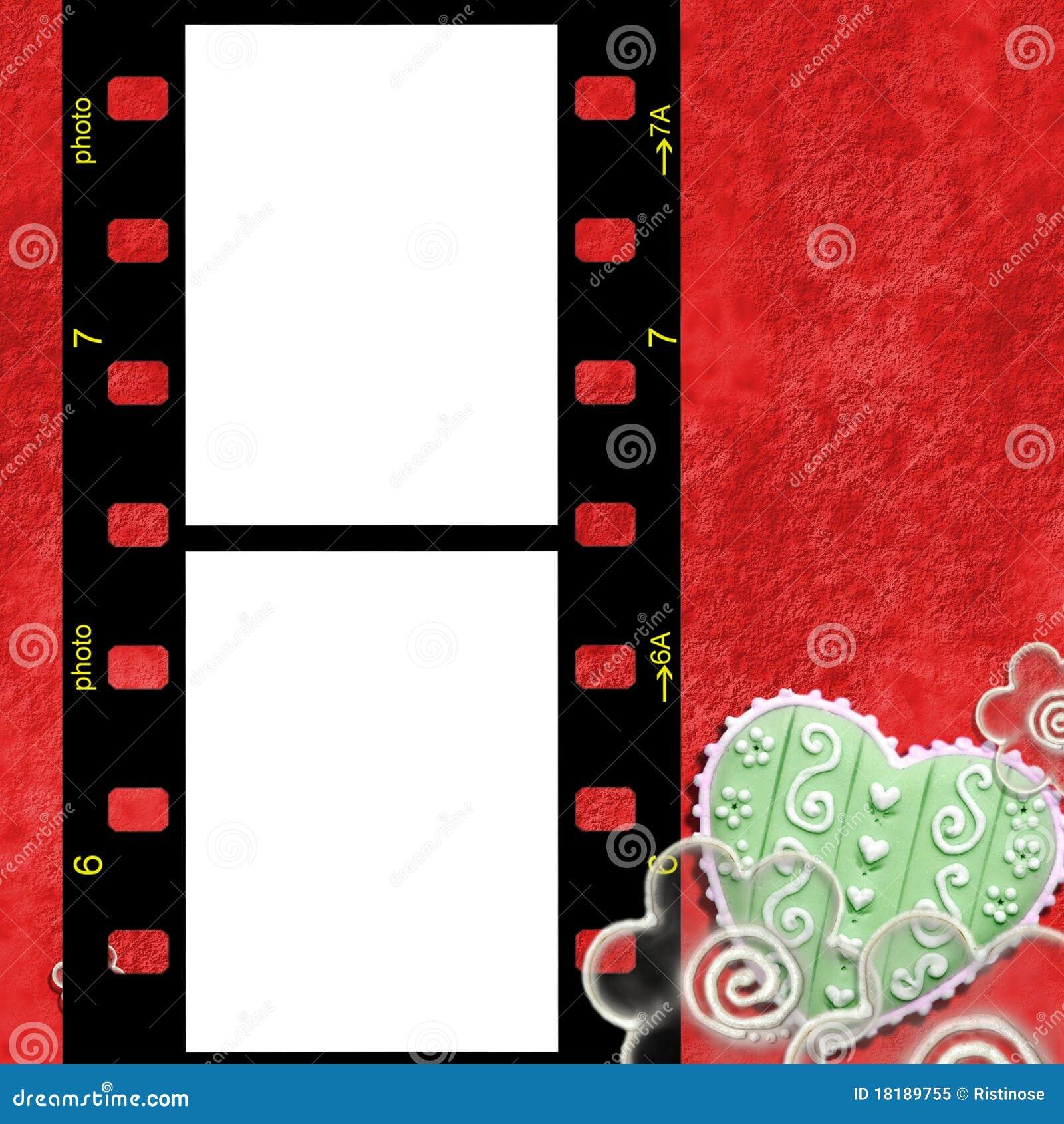 Marco Rojo Para Dos Fotos De Amor Imagen de archivo - Imagen de ...