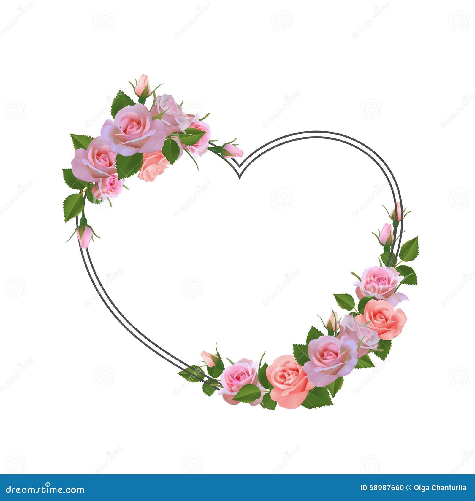Marco romántico con las flores Lugar para el texto, cita
