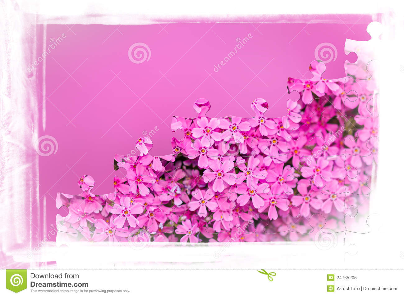 Puzzle Time Pink Flowers