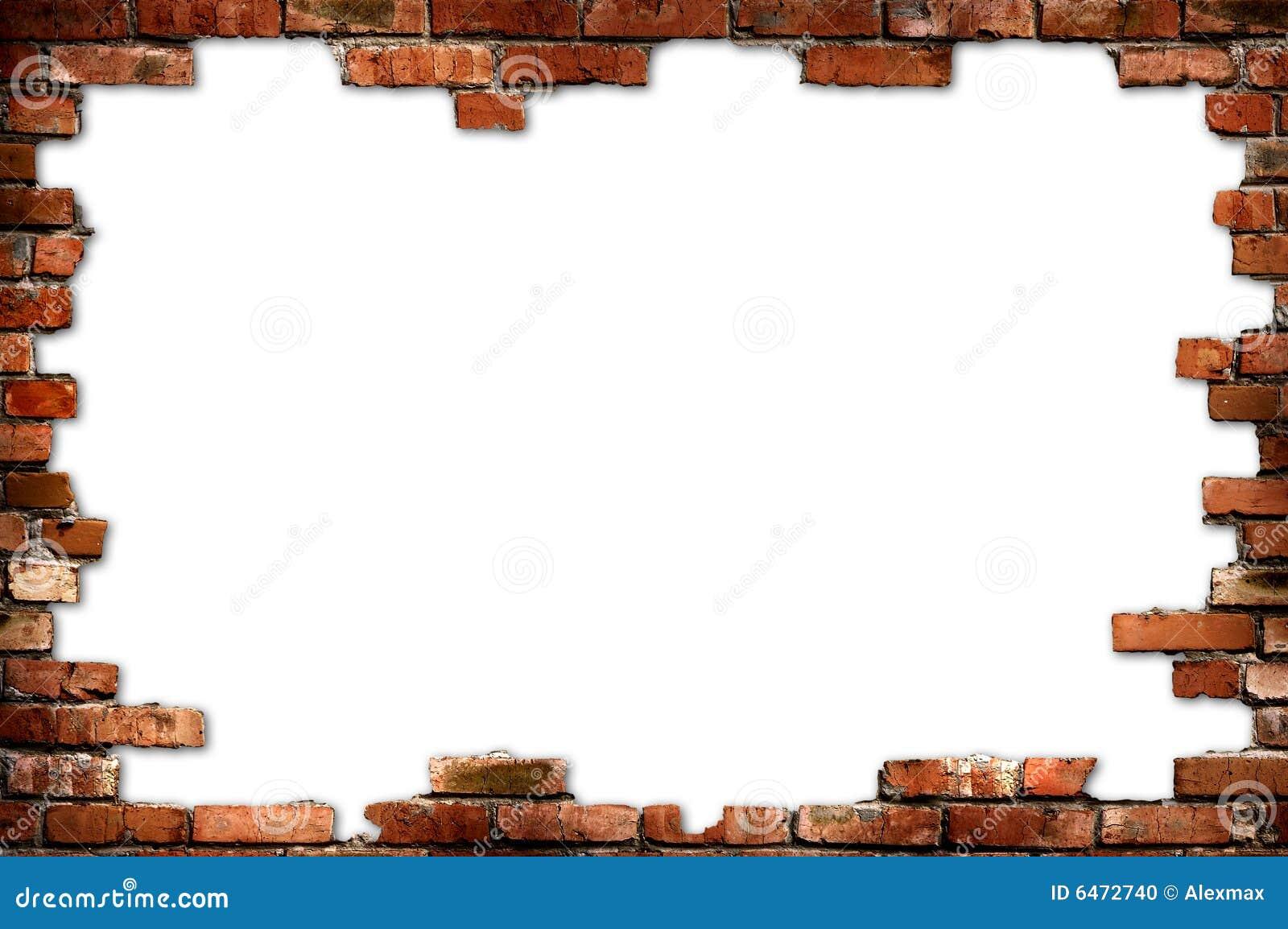 Marco sucio de la pared de ladrillo foto de archivo - Marcos de fotos pared ...