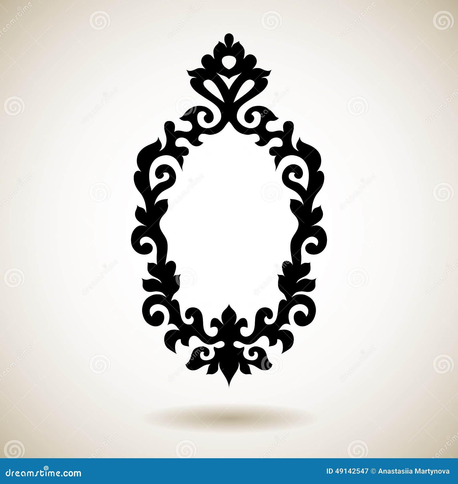 Marco tatuado negro reflejado tribal ilustraci n del for Espejo marco negro