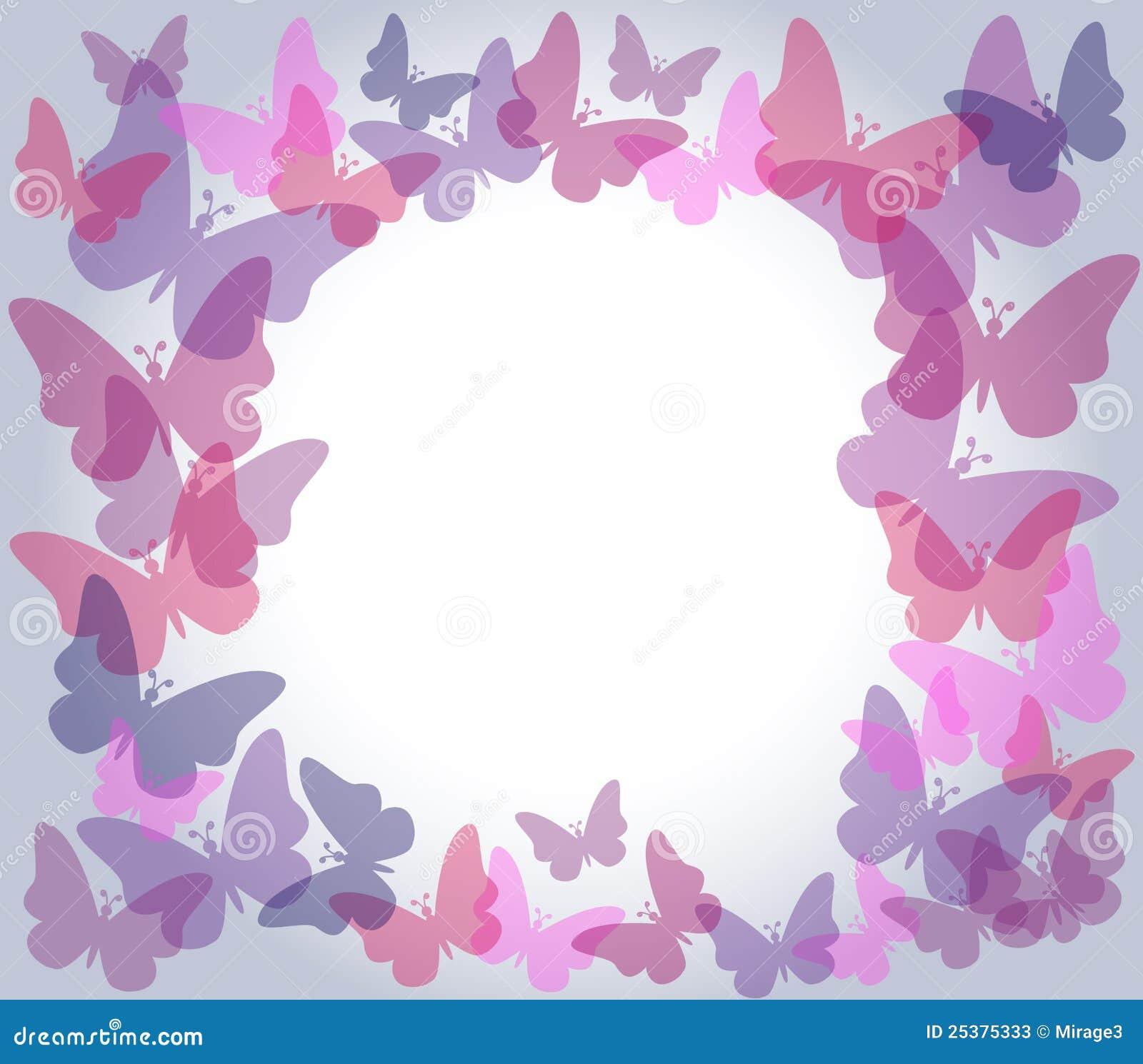 Marco transparente de las mariposas fotos de archivo - Marcos transparentes ...