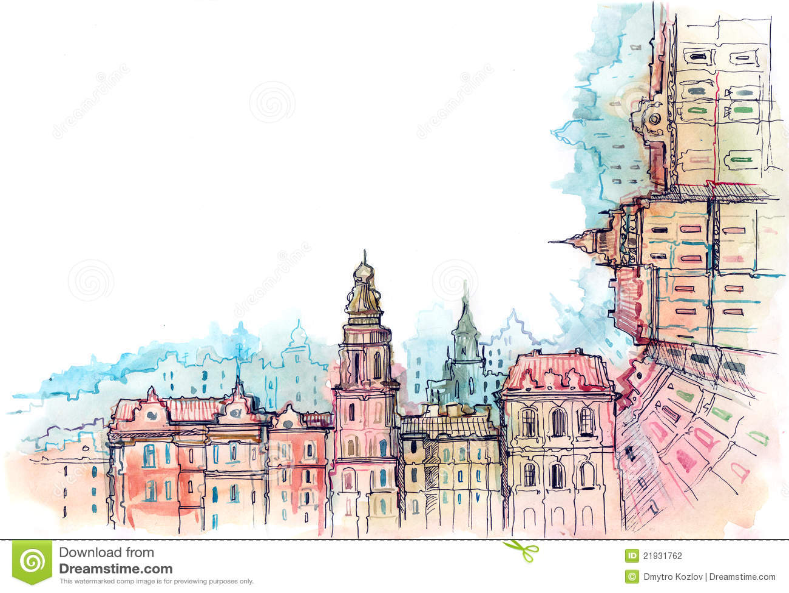 Marco urbano de la ciudad stock de ilustración. Ilustración de ...
