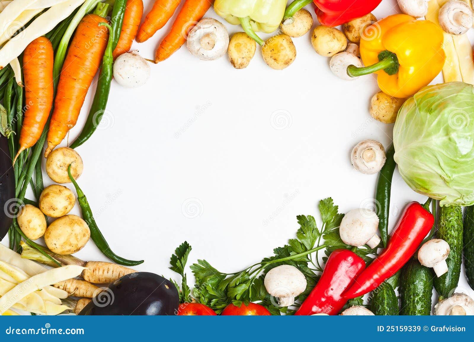 Marco vegetal colorido