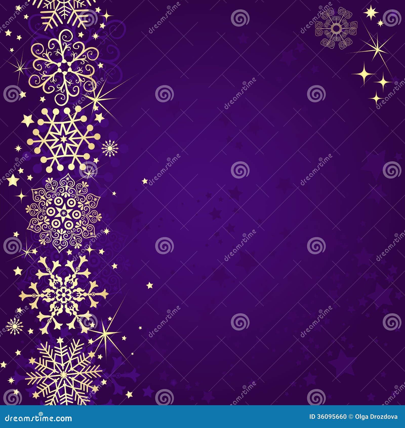 Marco Violeta De La Navidad Ilustración del Vector