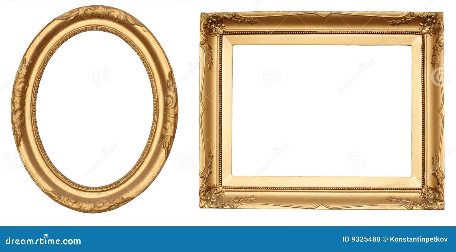 Marcos antiguos del oro foto de archivo imagen de antiguo - Marcos redondos para cuadros ...