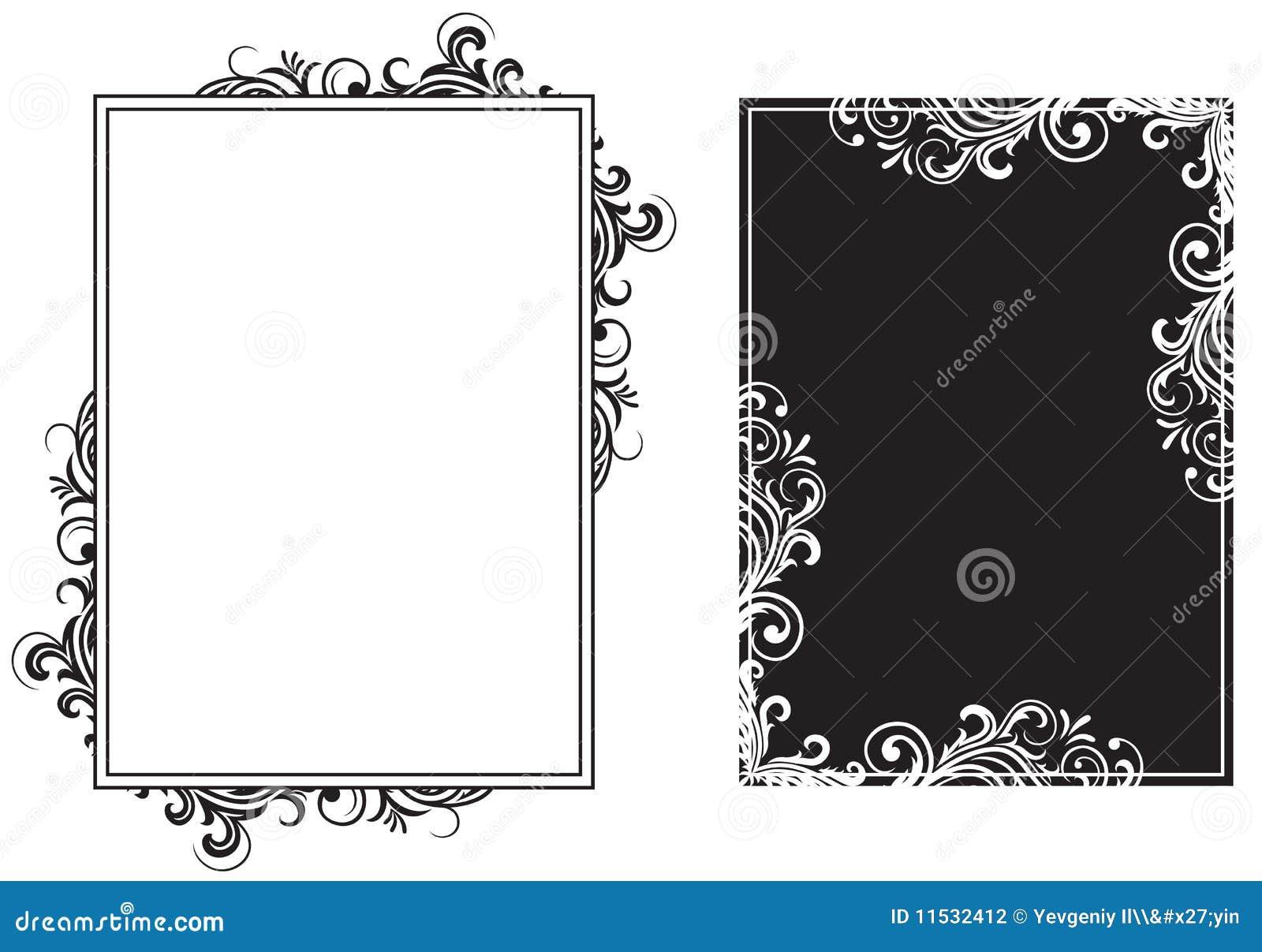 Marcos blancos y negros ilustración del vector. Ilustración de ...