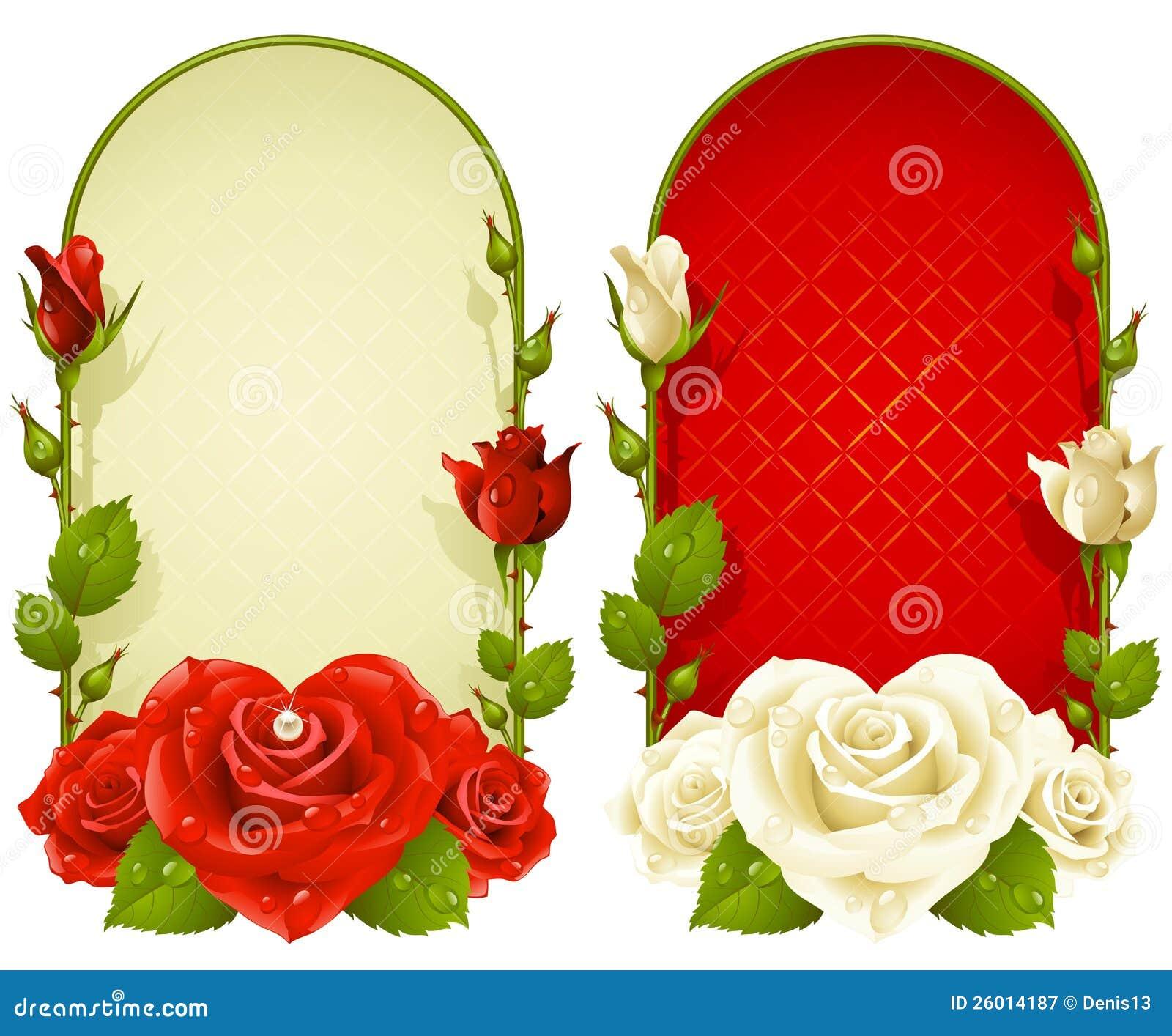Marcos color de rosa del vector aislados en el fondo blanco