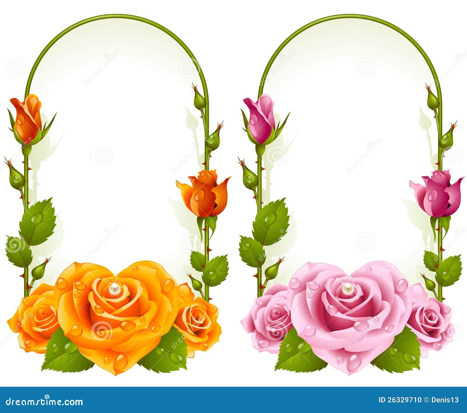 Marcos color de rosa del vector en el fondo blanco - Marcos para fotos economicos ...