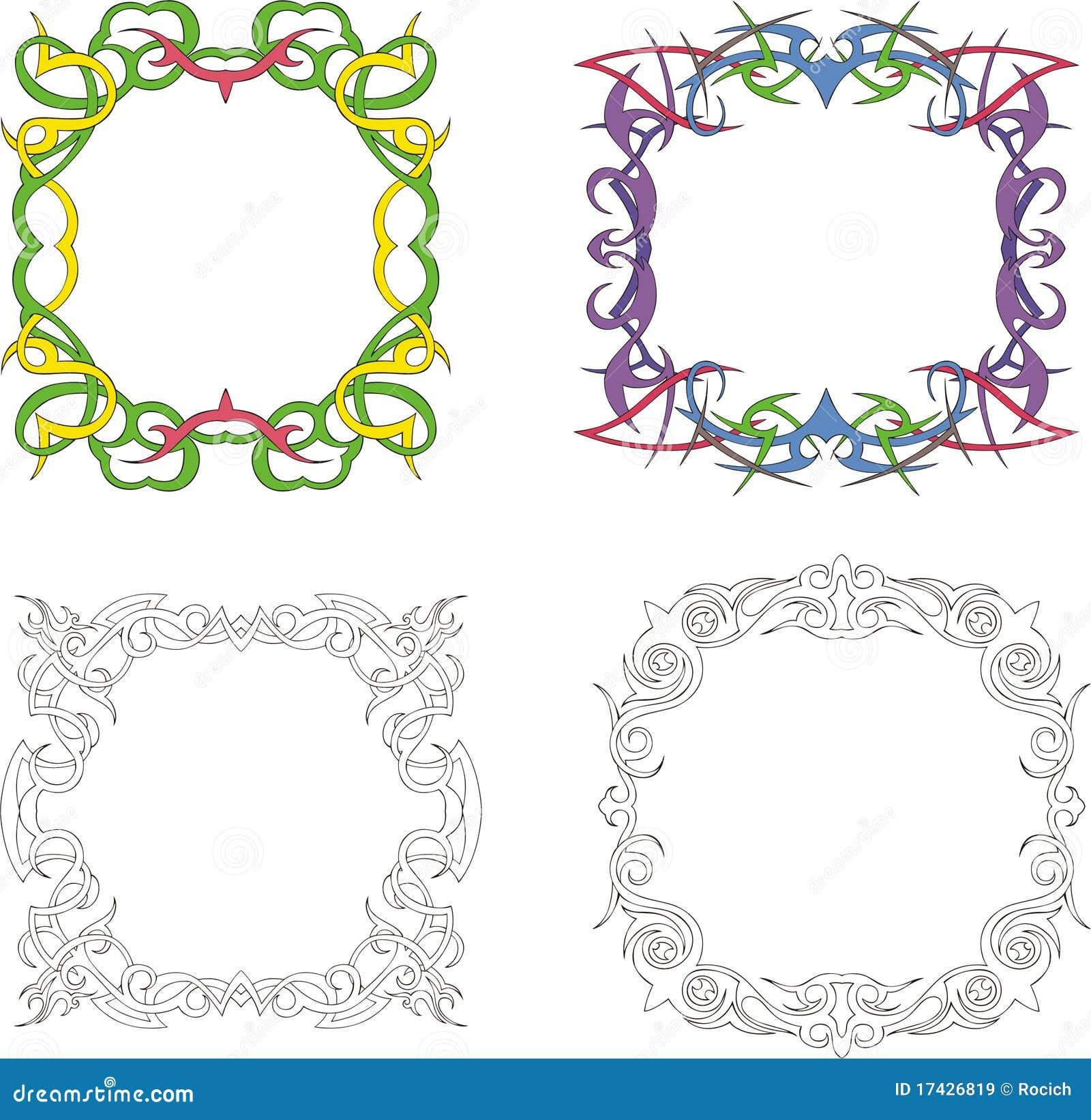 Marcos cuadrados de la decoraci n im genes de archivo for Decoracion marcos fotos