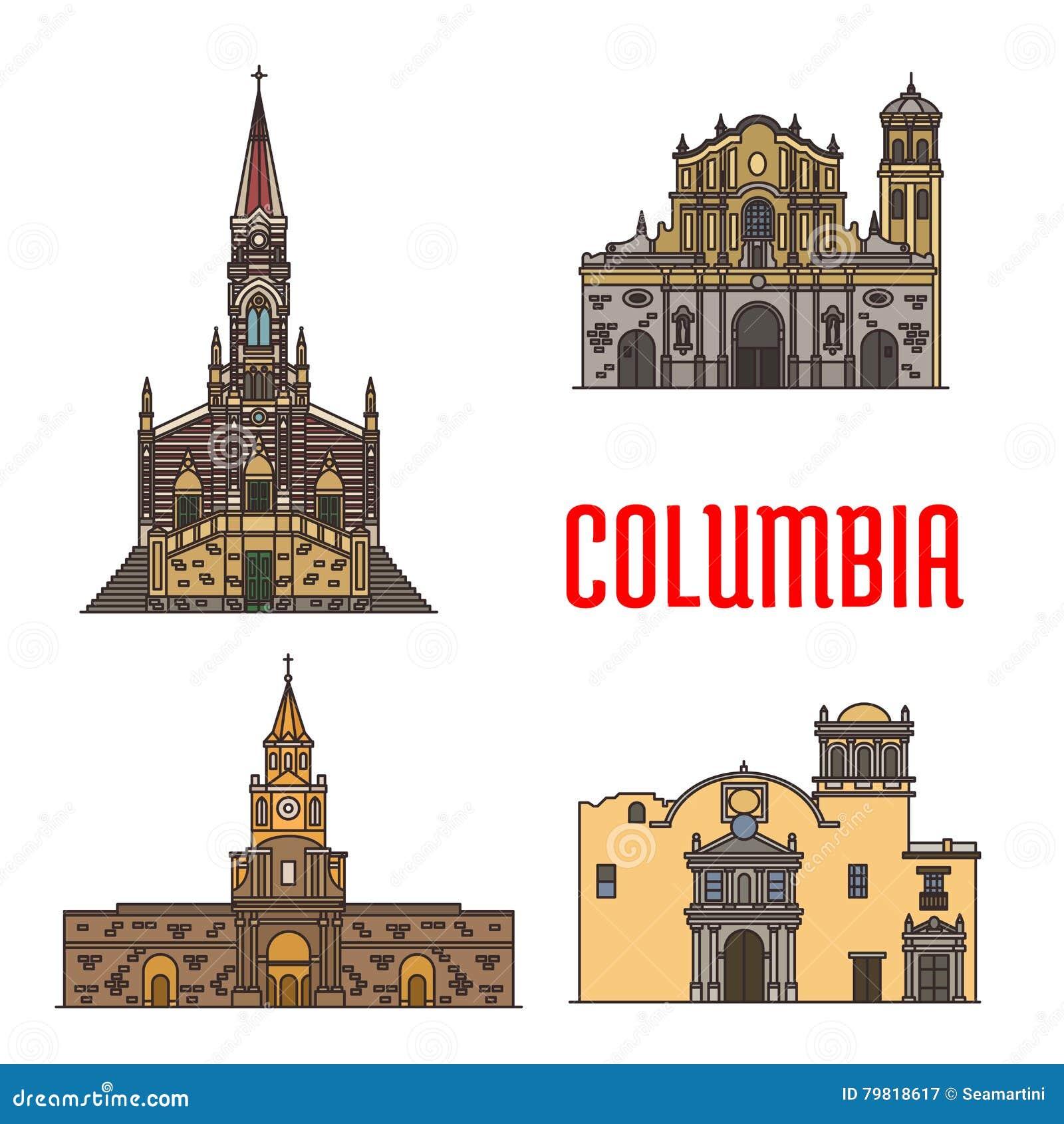 Marcos da arquitetura do turista de Colômbia