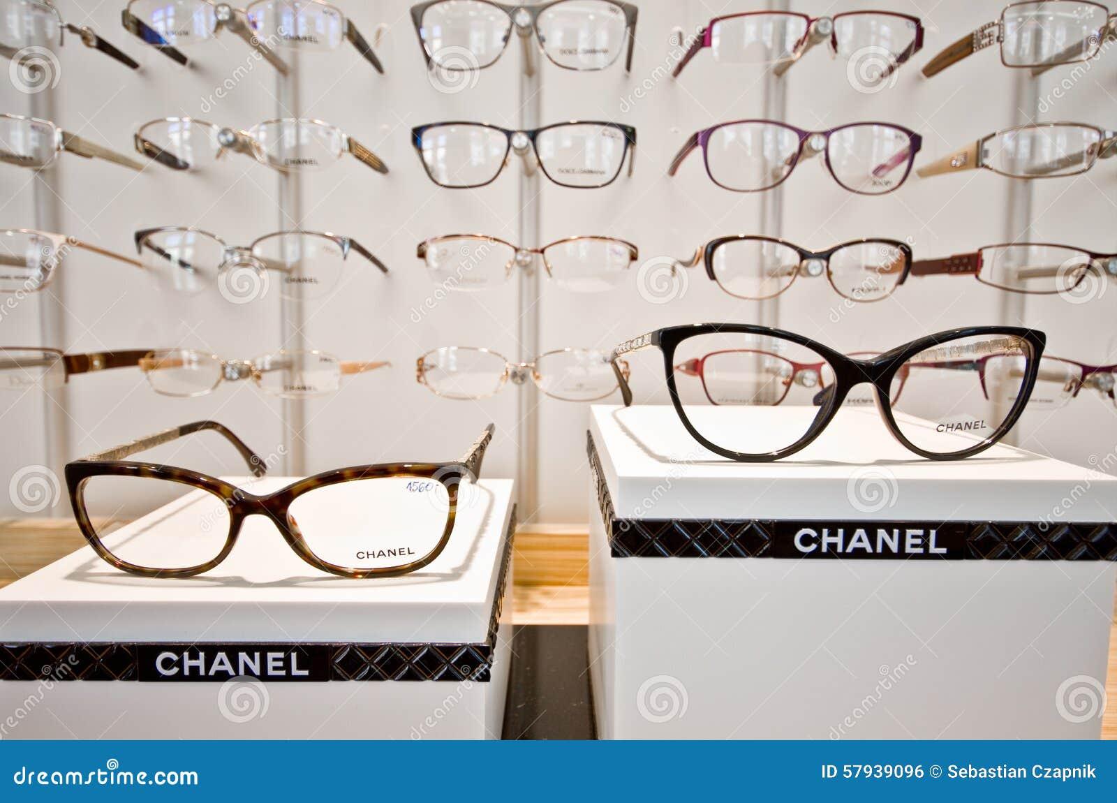 Marcos De La Lente De Chanel Foto editorial - Imagen de almacén ...