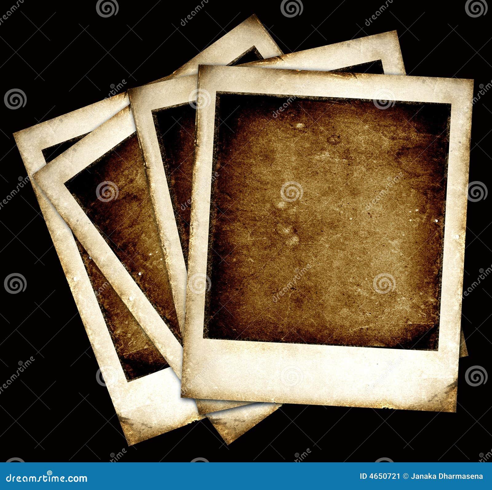Marcos de la polaroid de la vendimia