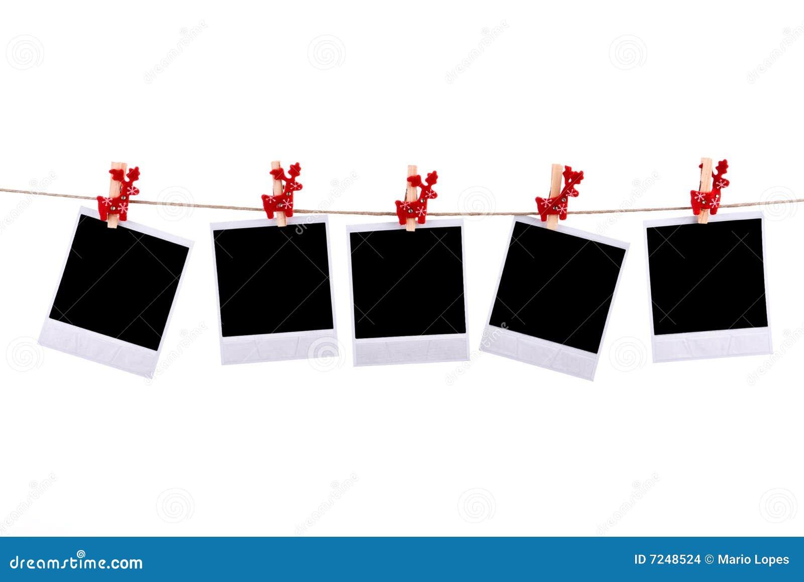 Marcos De Las Fotos Con Los Ornamentos De La Navidad Foto de archivo ...