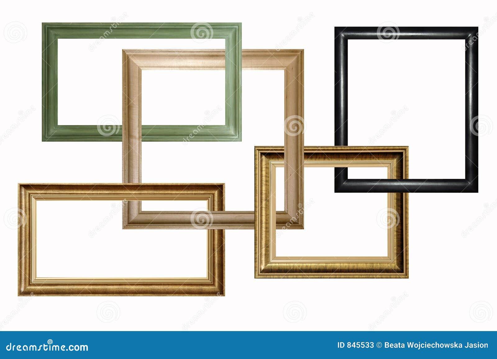 Marcos de madera imagen de archivo imagen de cuadro - Marcos de fotos madera ...
