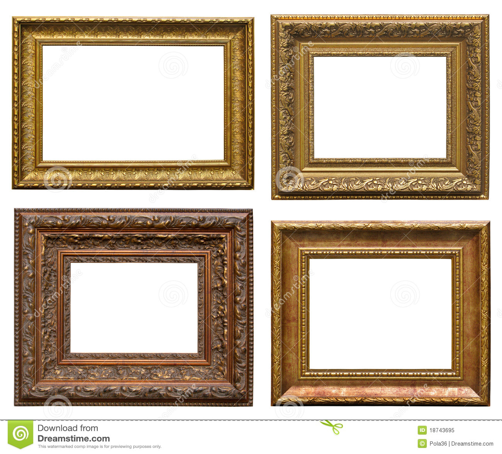 Marcos de madera con la talla foto de archivo libre de - Marcos fotos madera ...