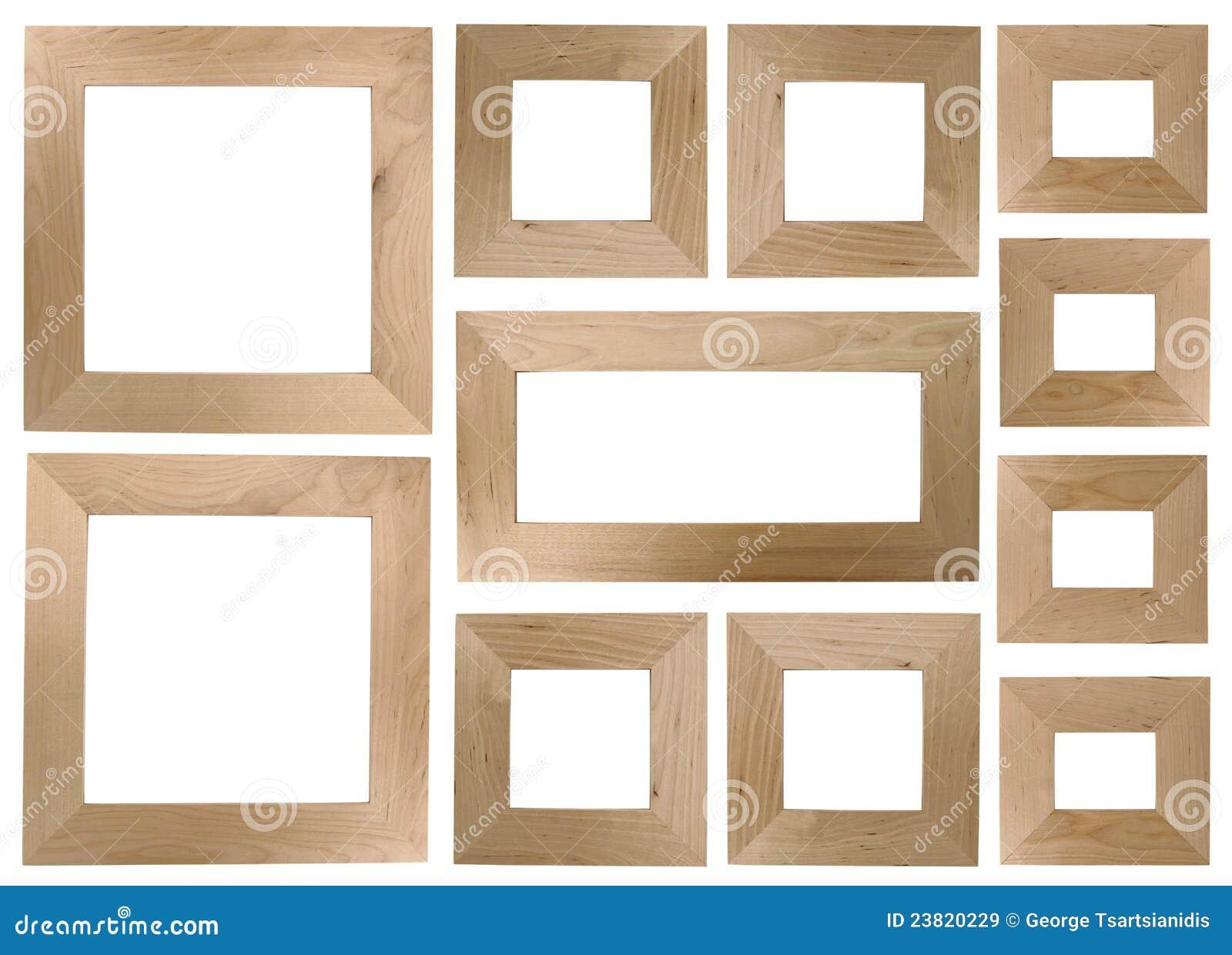 Marcos de madera en blanco imagen de archivo. Imagen de enmarcado ...