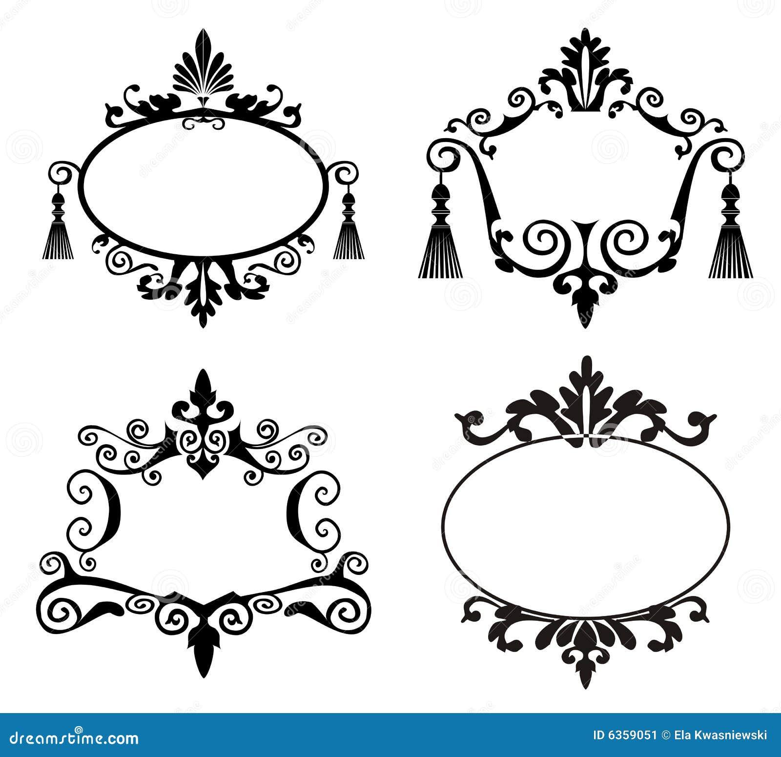 Marcos Decorativos Ilustraci 243 N Del Vector Ilustraci 243 N De