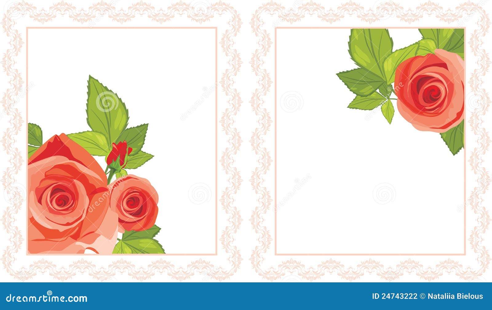 Marcos decorativos con las rosas rojas fotograf a de - Marcos decorativos ...