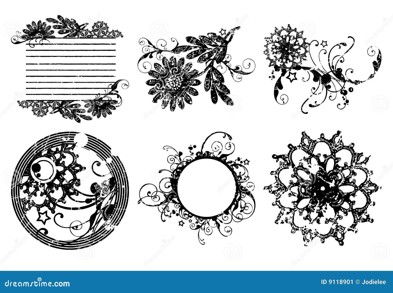 Marcos decorativos del c rculo de la flor imagen de for Adornos decorativos