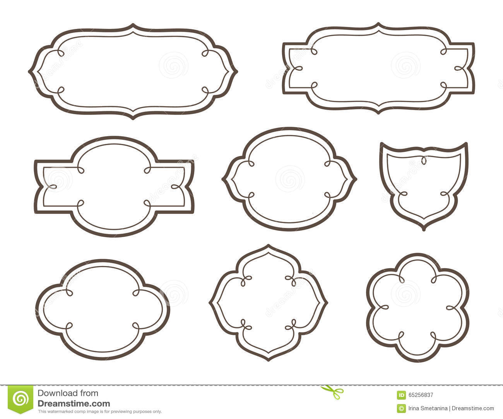 Marcos decorativos del vector para los logotipos y los - Marcos decorativos ...
