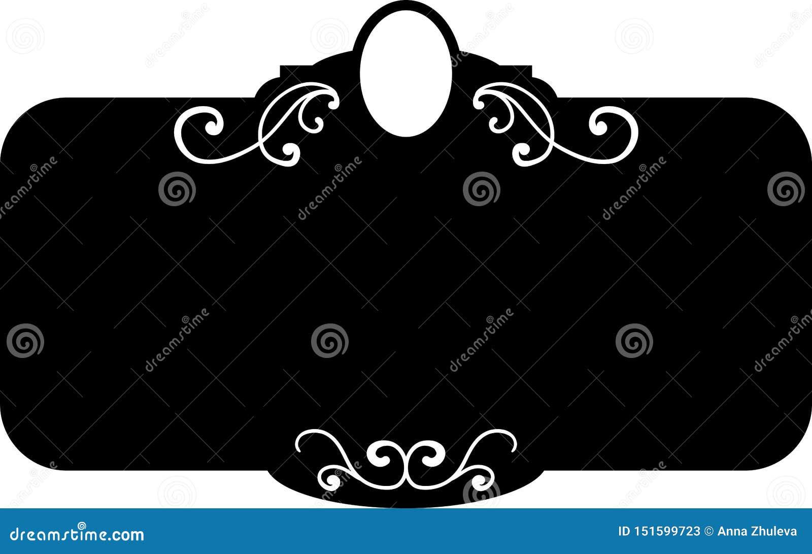 Marcos del vintage de la casilla negra, elementos del diseño Mano del bosquejo dibujada Frontera decorativa