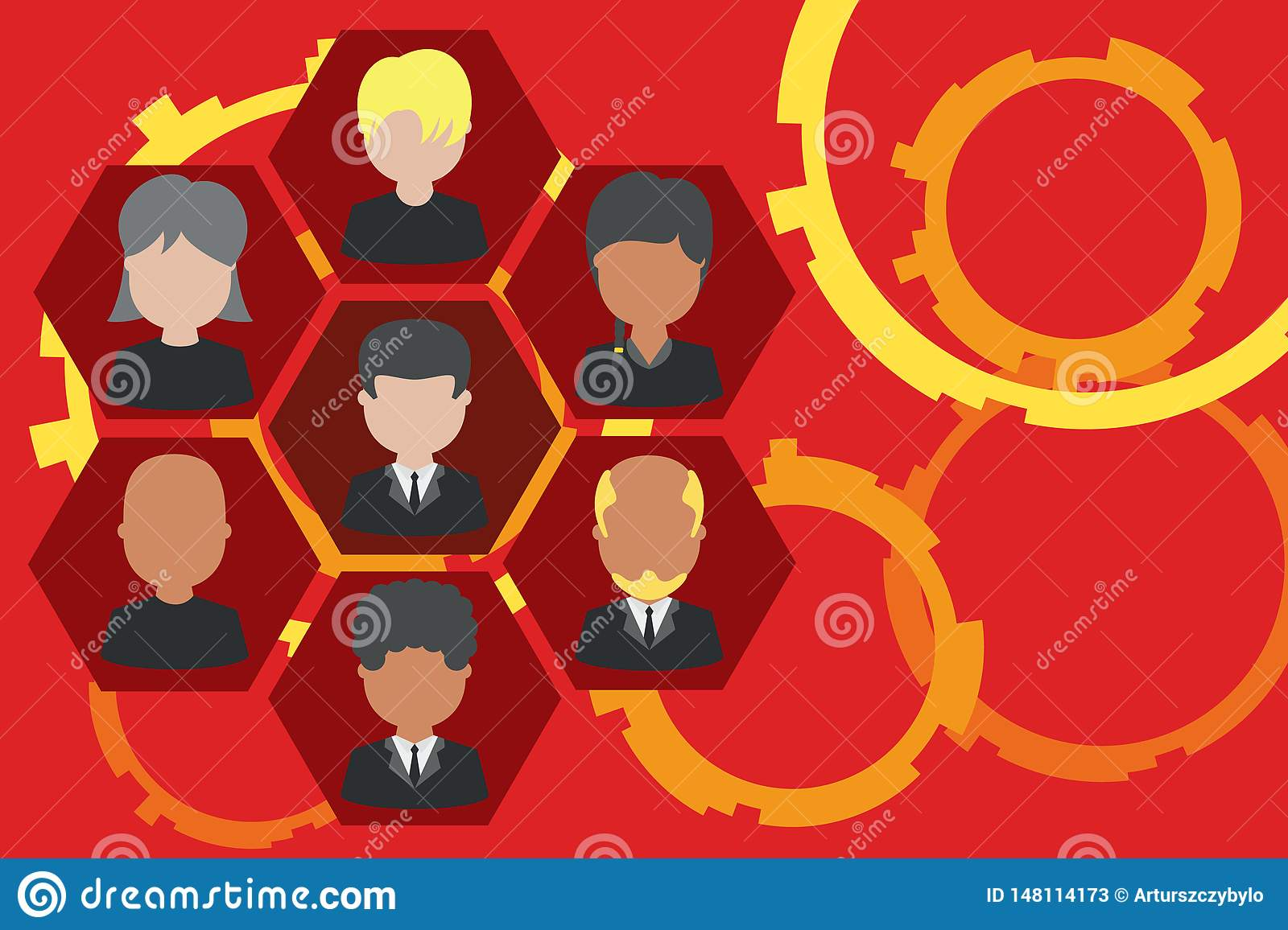 Picture Frames Chief Executive And Staff. Company Working Personnel.  Organization Chart CEO Employees. Team Corporation Ilustración del Vector -  Ilustración de executive, chief: 148114173