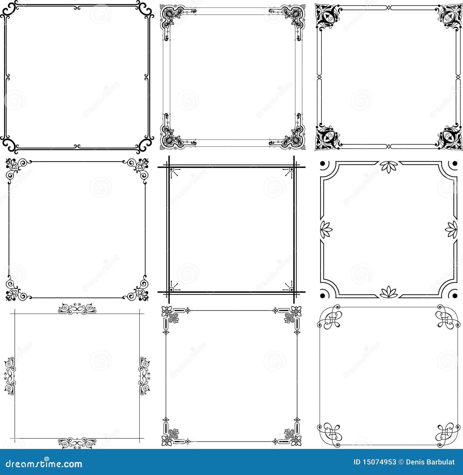 Marcos elegantes ilustraci n del vector ilustraci n de - Como hacer marcos de fotos faciles ...