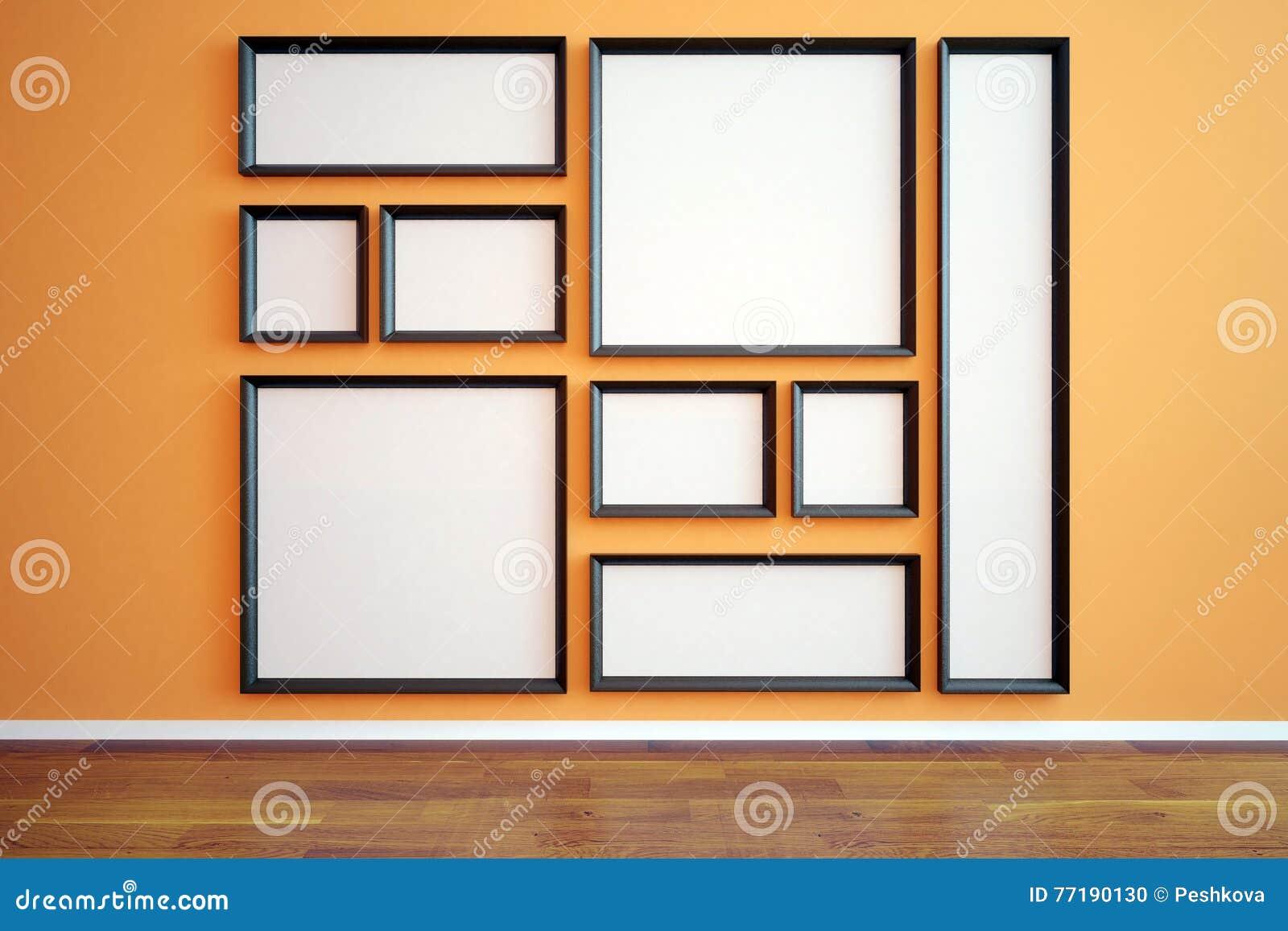 Marcos En Blanco Múltiples En Interior Stock de ilustración ...