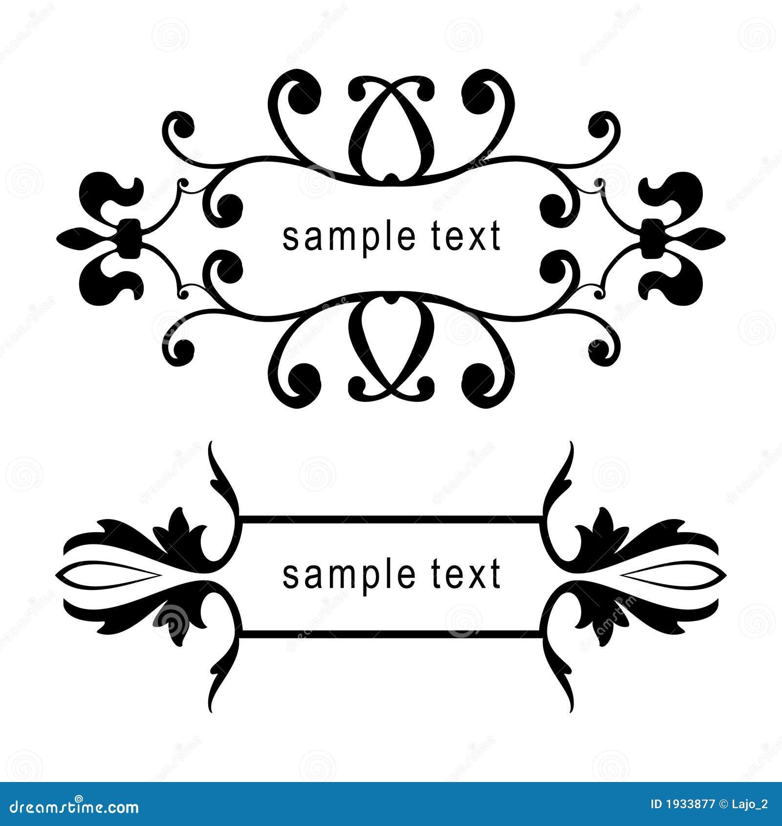 Marcos florales del vector ilustración del vector. Ilustración de ...