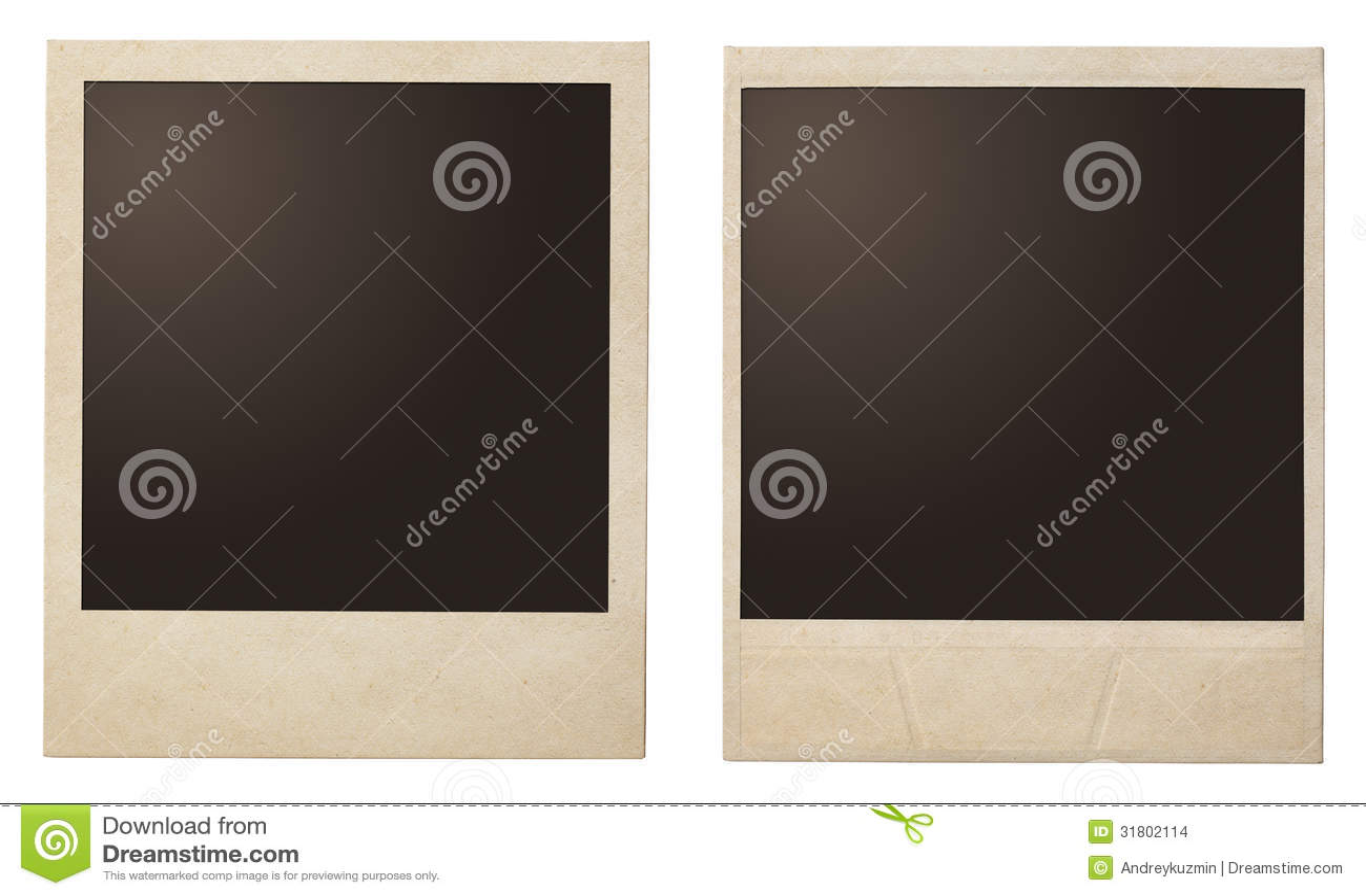 Marcos inmediatos de la polaroid de la foto del vintage