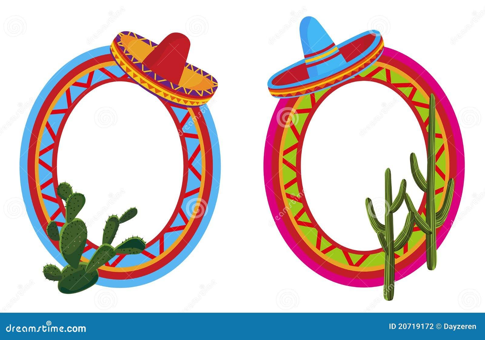 Marcos Mexicanos Ilustraci 243 N Del Vector Imagen De Latino