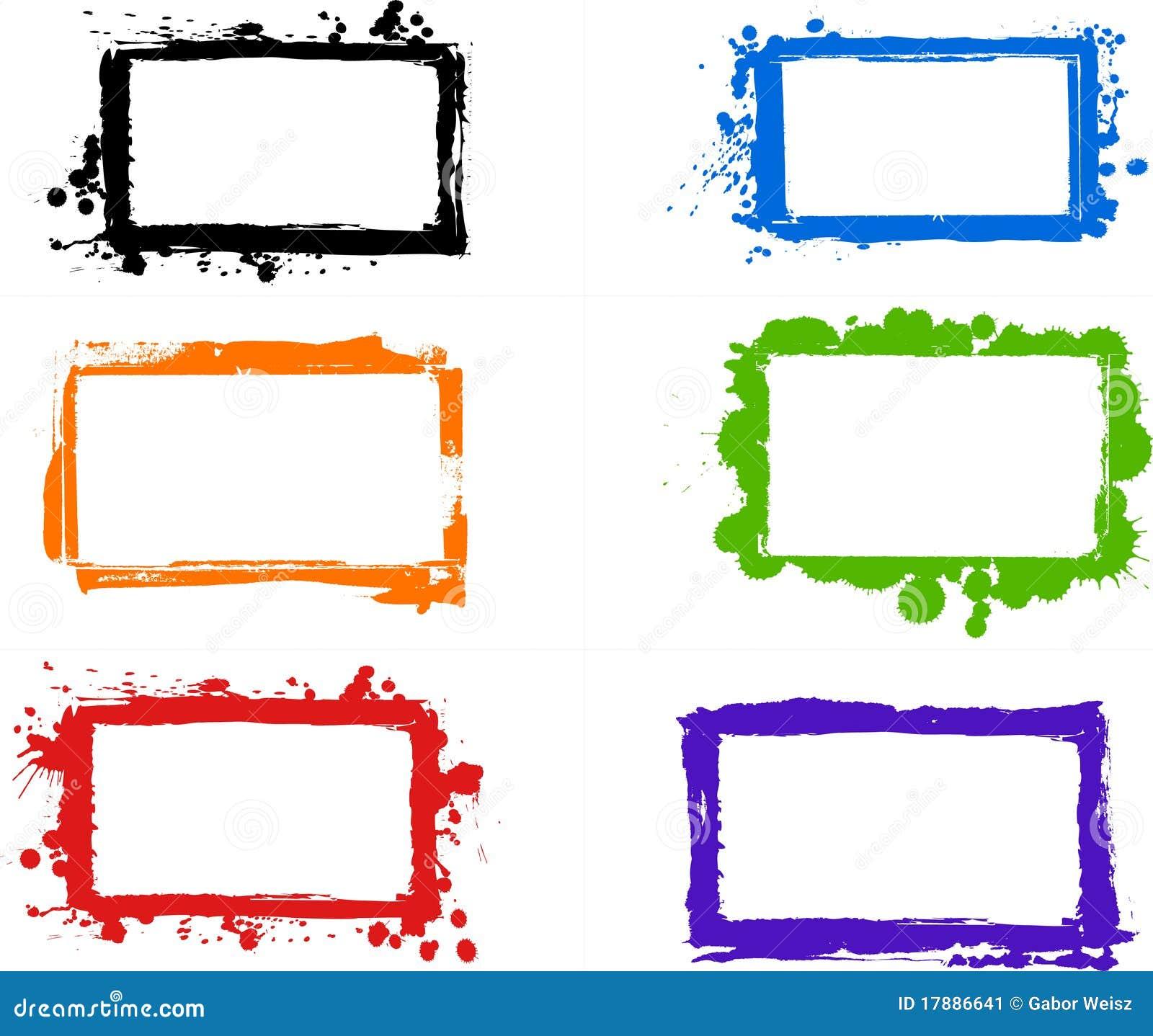 Marcos sucios creativos ilustración del vector. Ilustración de ...