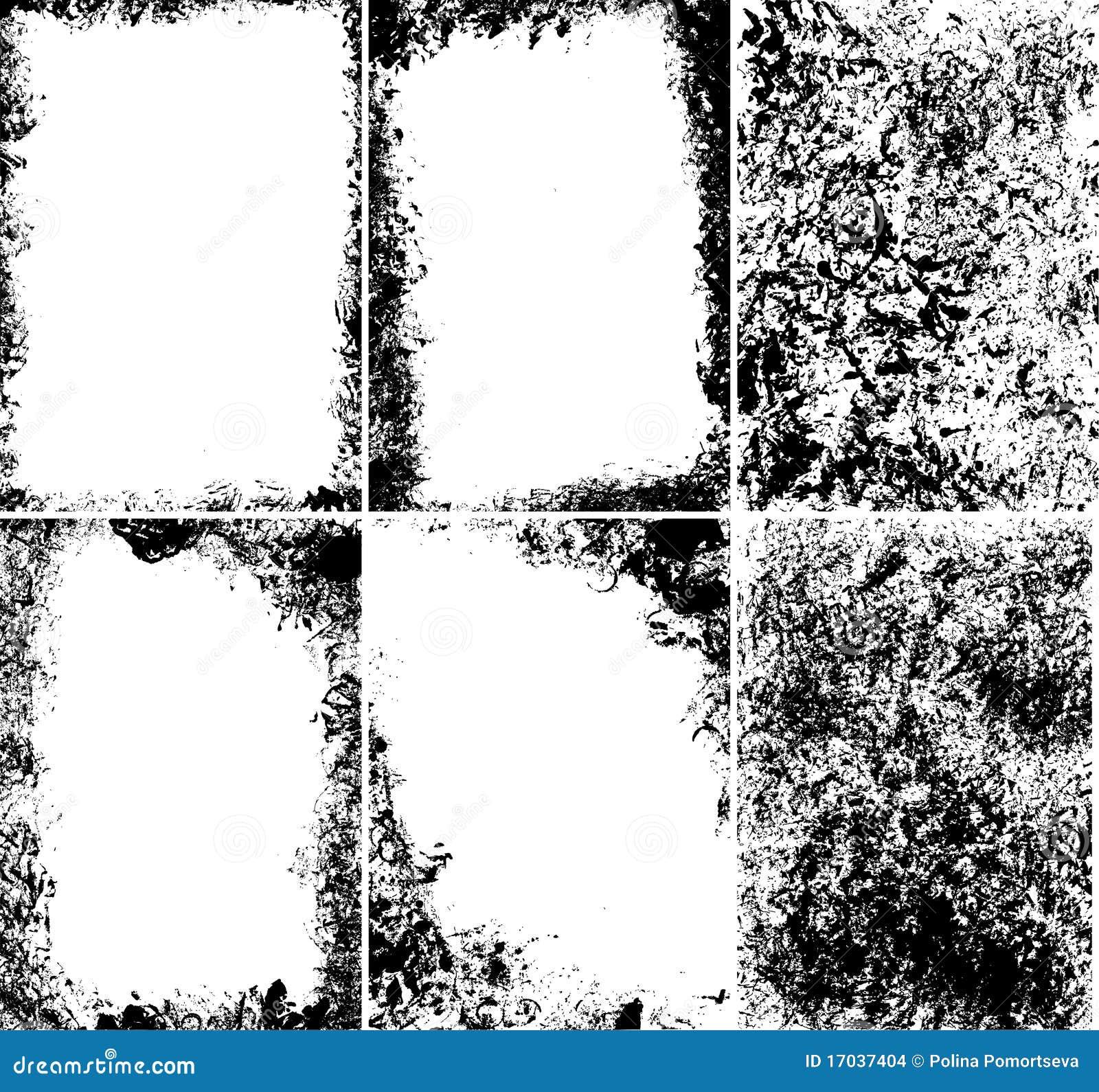 Marcos sucios del vector ilustraci n del vector imagen de Marcos para fotos precios