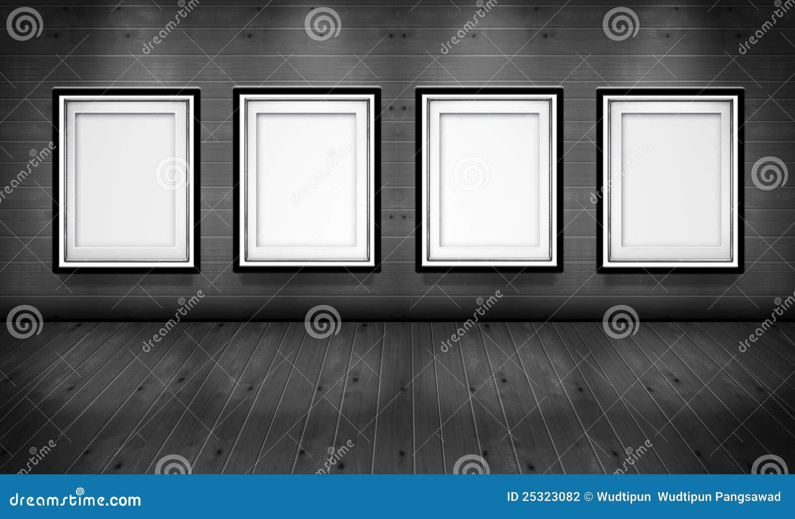 Marcos Vacíos En El Cuarto De La Galería De Arte Stock de ...