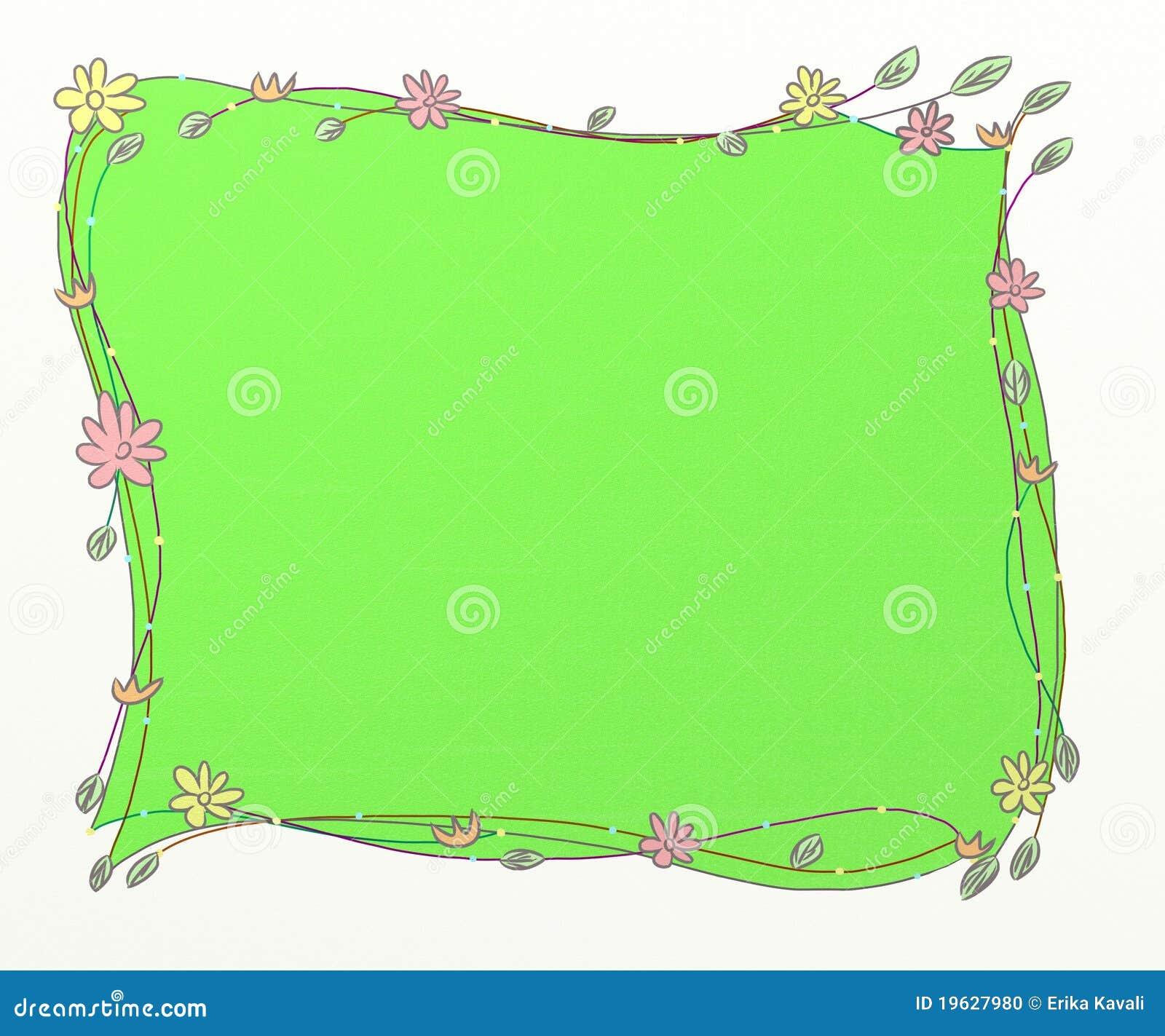 Marcos verdes stock de ilustración. Ilustración de lindo - 19627980