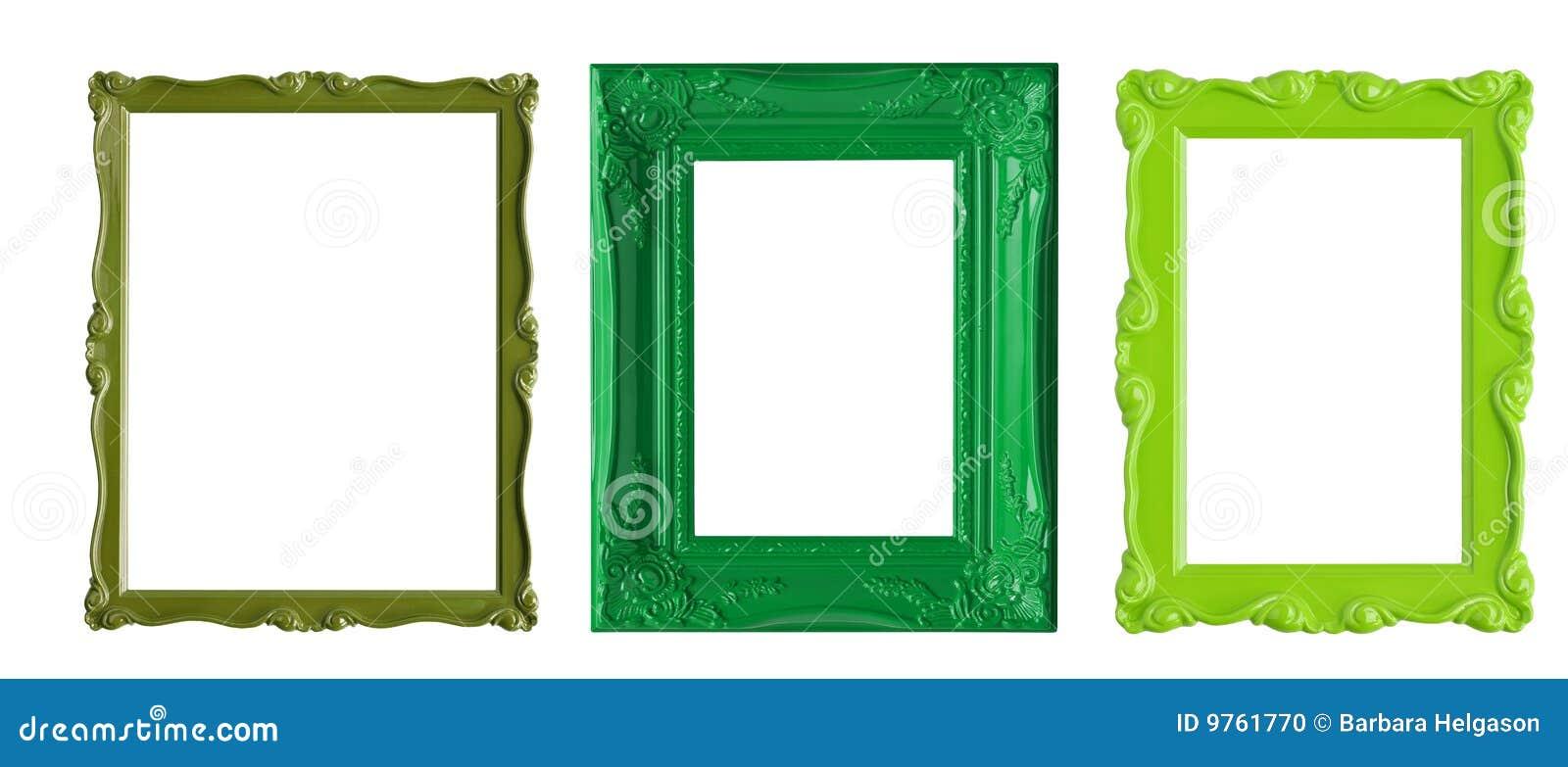Marcos verdes stock de ilustración. Ilustración de moderno - 9761770