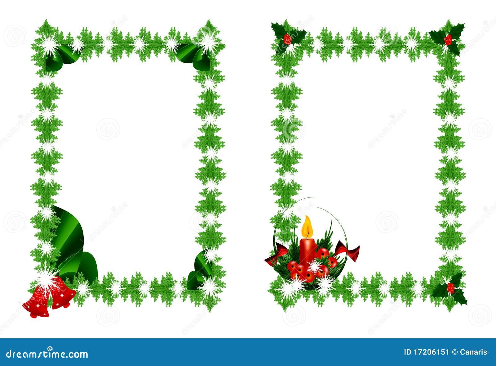 Marcos Verdes De La Navidad Ilustraciones Stock, Vectores, Y Clipart ...