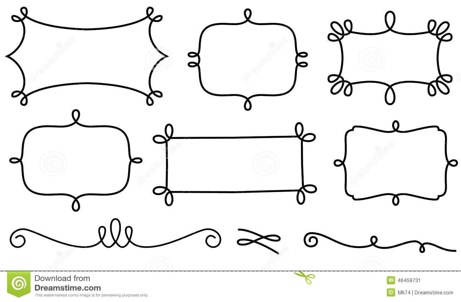 Marcos Y Elementos Decorativos Del Diseño Ilustración del Vector ...