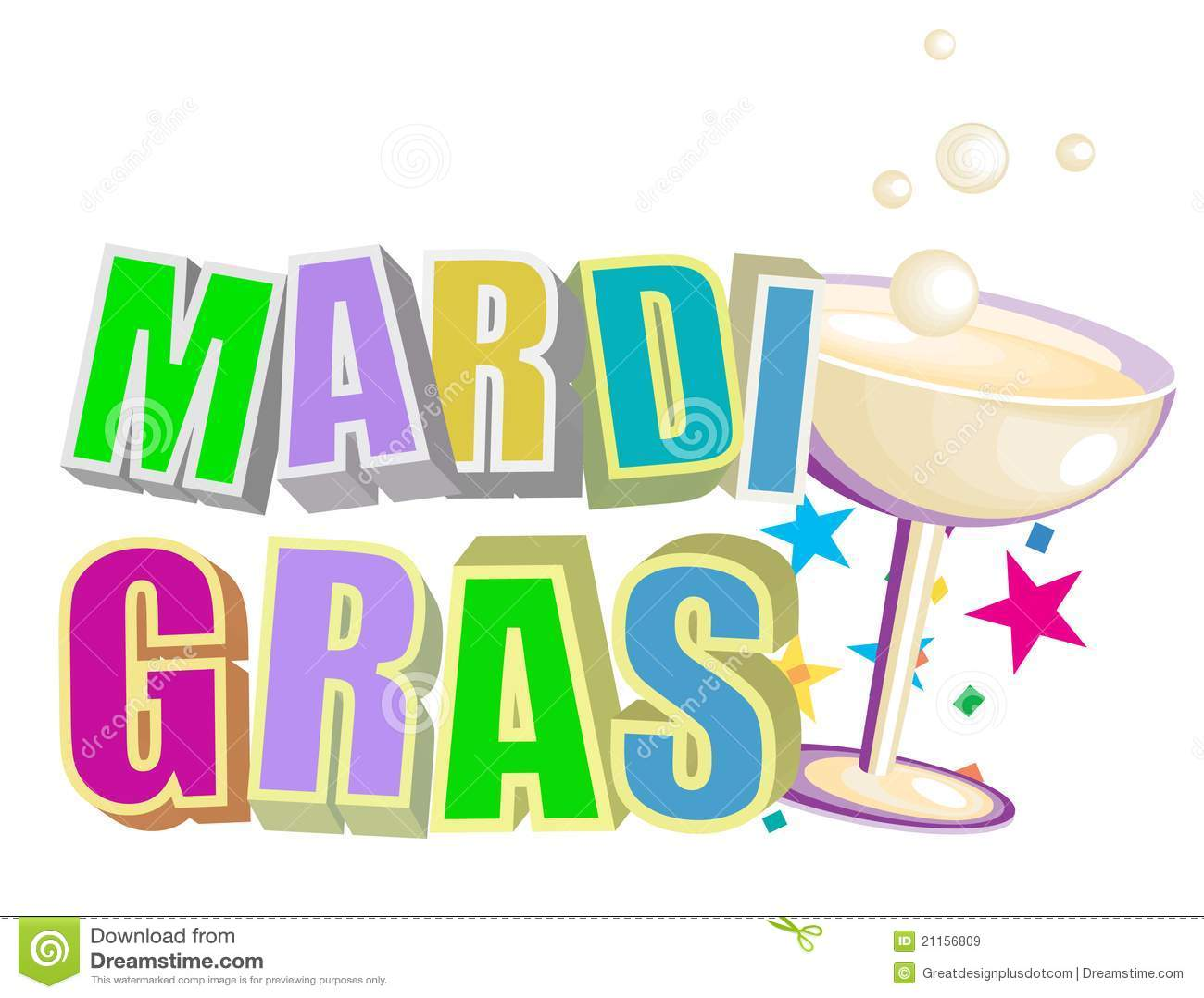 Mardi gras зажима искусства