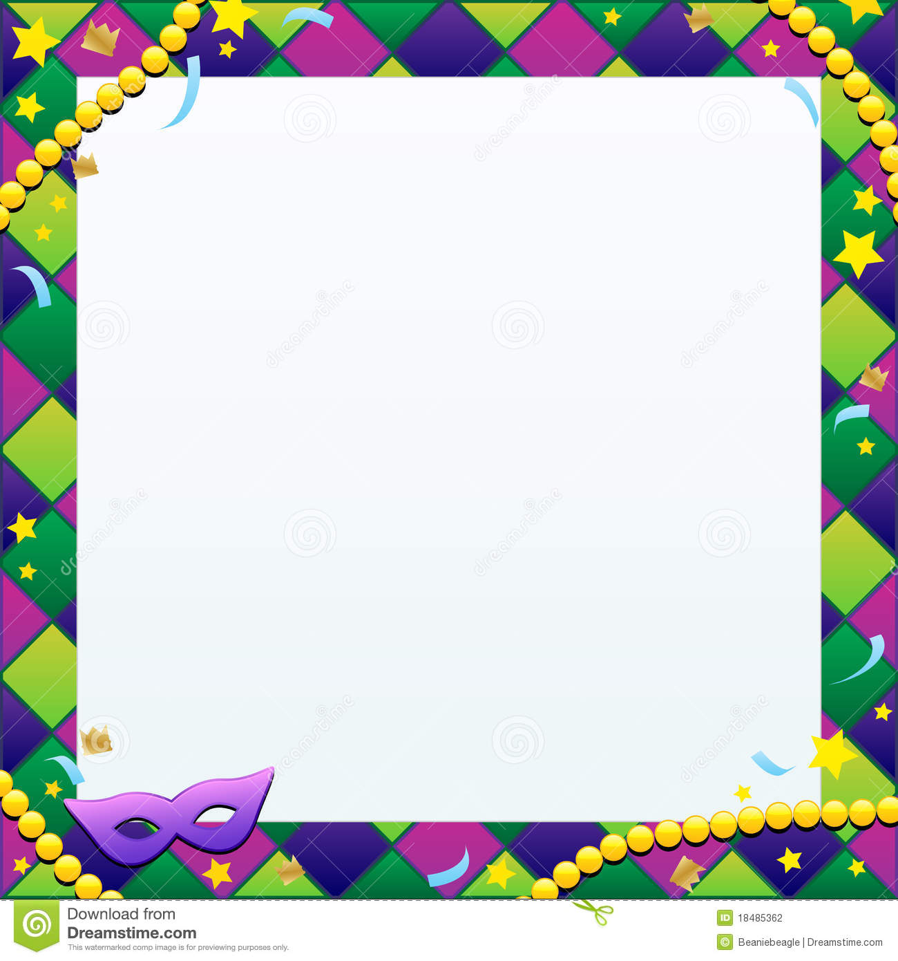Mardi Gras Background Stock Photography - Image: 18485362