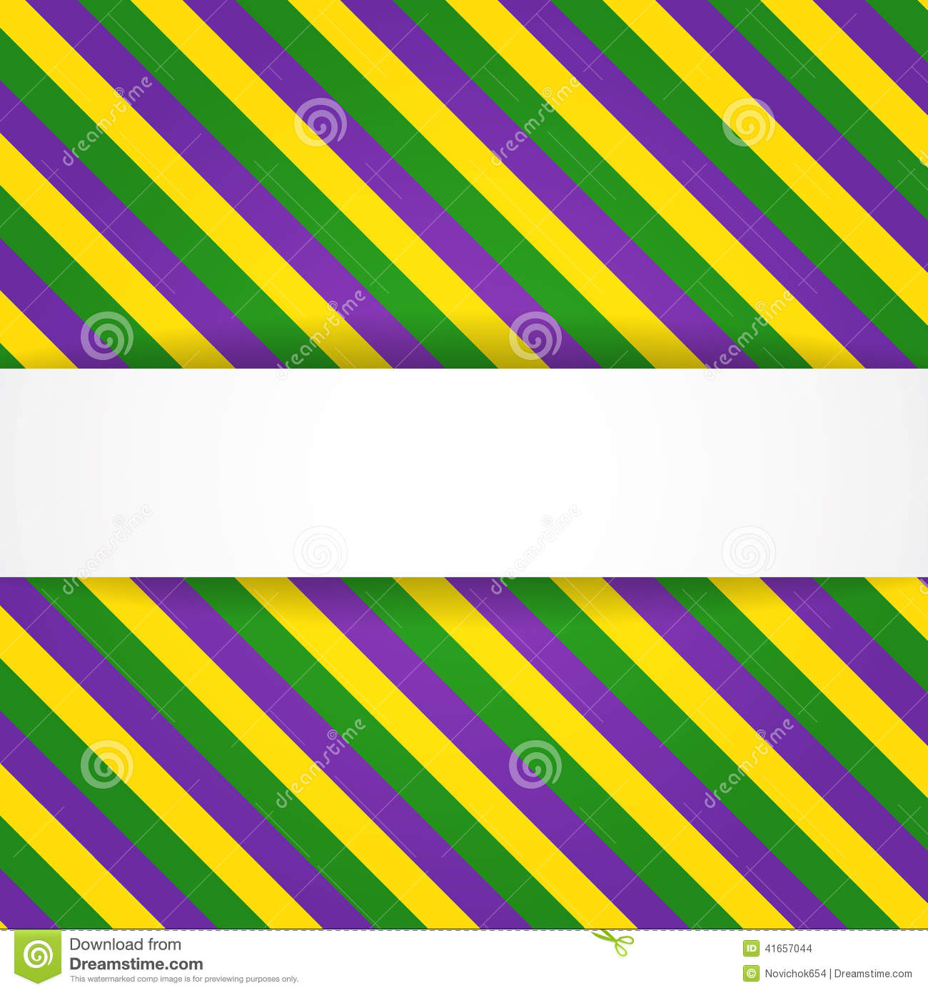 Mardi Gras Background With Banner Stock Vector - Image: 41657044