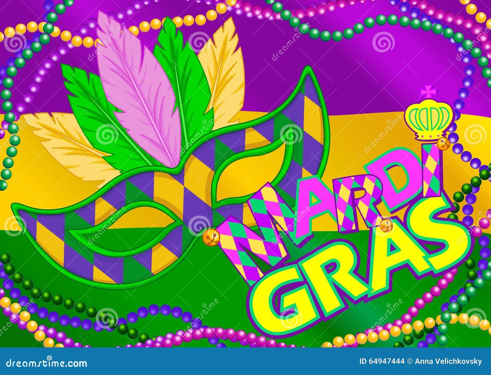 Mardi Gras bakgrund