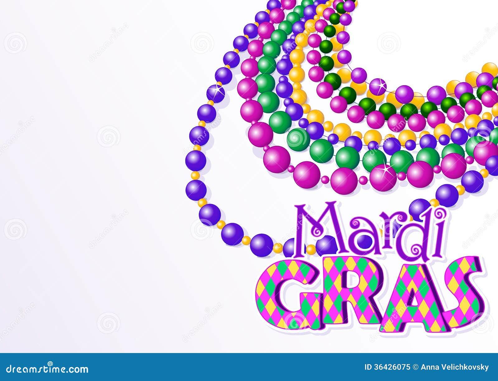 Mardi Gras Beads Background Stock Vector Illustration Of